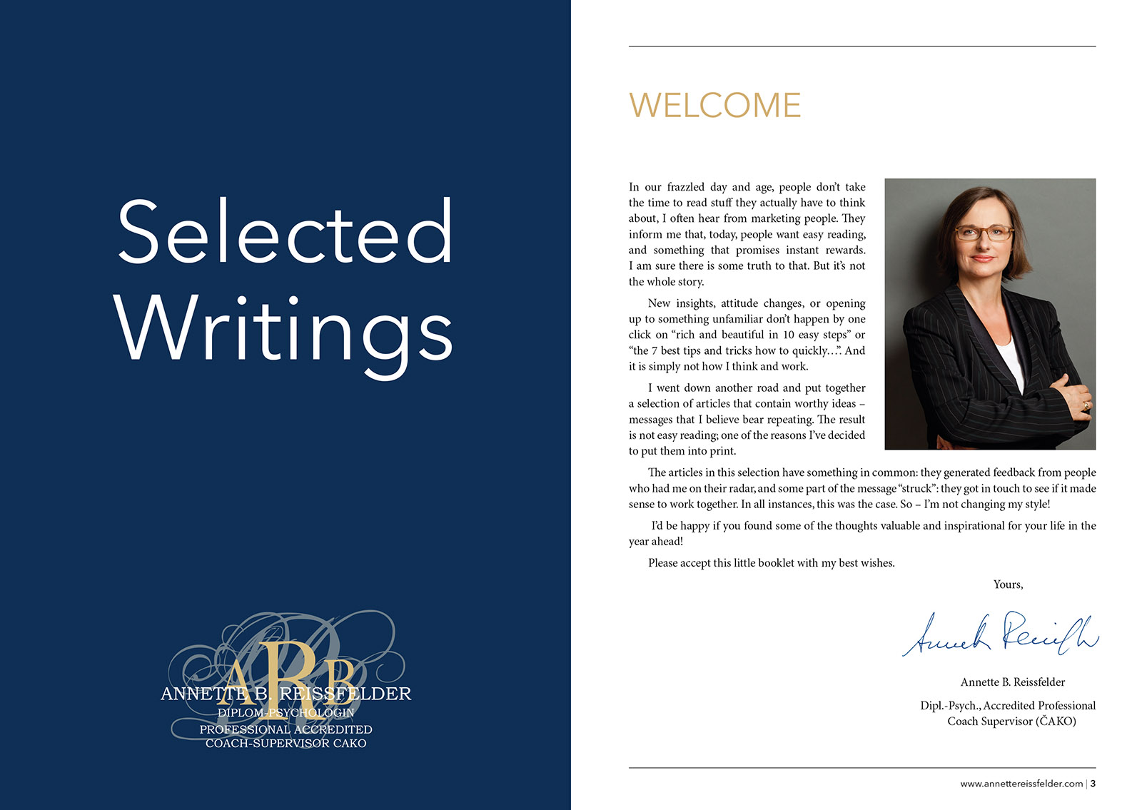Selected Writings Brochure Preview